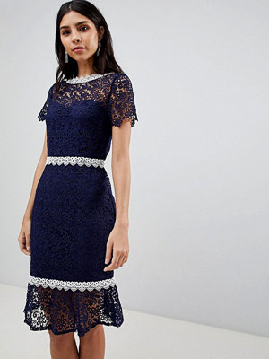 Paper Dolls Crochet Short Sleeve Pencil Dress