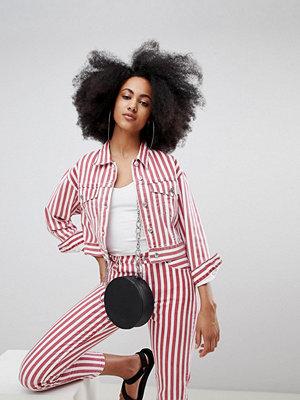 Pull&Bear co-ord denim jacket in stripe
