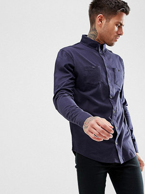 Skjortor - boohooMAN Jersey Shirt In Regular Fit With Double Pockets