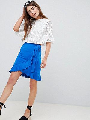 ASOS DESIGN wrap mini skirt with tie waist