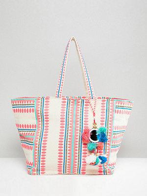 Accessorize axelväska Bondi geometric beach tote bag