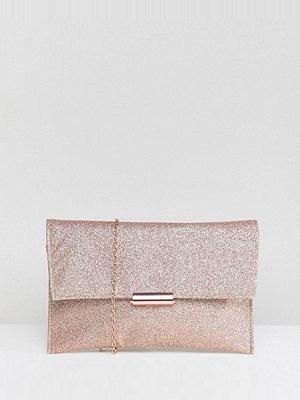 Accessorize kuvertväska Cyndi rose gold glitter clutch