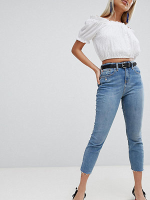 River Island Petite Casey Cut Off Skinny Jeans