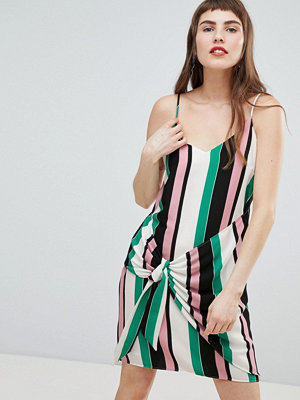 River Island Knot Side Stripe Cami Dress - Stripe