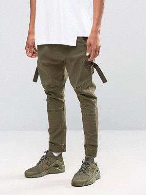 Byxor - ASOS Drop Crotch Joggers With Taping