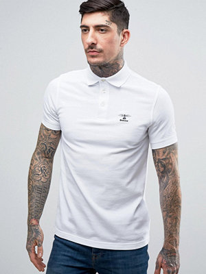 Pikétröjor - Barbour Polo Shirt with Beacon Logo In Slim Fit