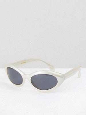 Solglasögon - Reclaimed Vintage Inspired Cat Eye Sunglassses In Cream