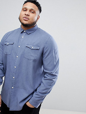 ASOS DESIGN Plus Regular Fit Garment Dyed Vintage Wash Shirt