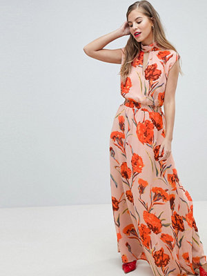 Y.a.s High Neck Floral Maxi Dress