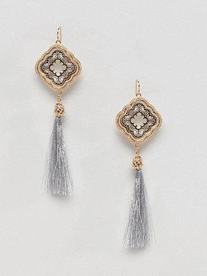 ASOS örhängen DESIGN Occasion Filigree Metallic Tassel Earrings