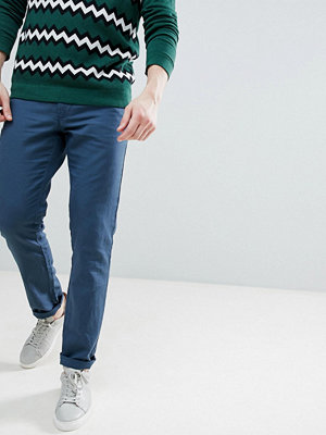 Byxor - United Colors Of Benetton Slim Fit Linen Chinos in Navy