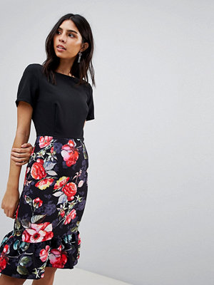 Paper Dolls Floral Skirt 2 In 1 Dress - Print
