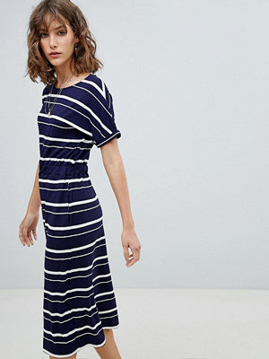 Warehouse Stripe T-Shirt Midi Dress - Stripe