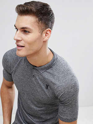 Pikétröjor - Next Muscle Fit Polo In Grey Marl