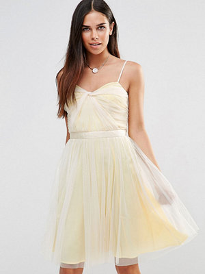 French Connection Angelica Tulle Midi Dress - Prcln/bchclb