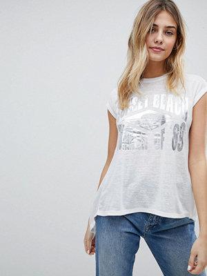 Brave Soul Sunset T-shirt för stranden med foliemönster