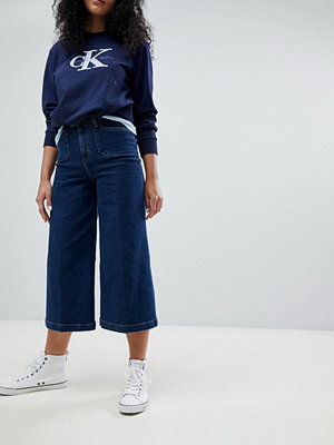 Calvin Klein Surplus Denim Wide Leg Culottes - Stoney blue comfort