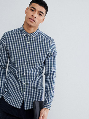 ASOS DESIGN Skinny Cvc Check Shirt With Wash