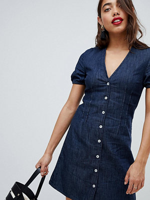 Warehouse Denim Summer Dress - Dark wash