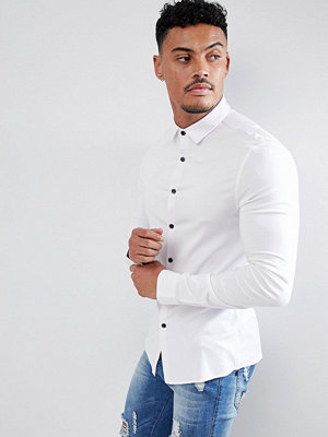 ASOS DESIGN Skinny Viscose Shirt