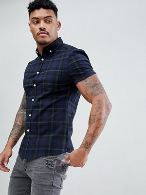 ASOS DESIGN Skinny Stretch Twill Check Shirt