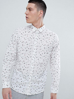 Selected Homme Slim Fit Shirt With All Over Dot Print
