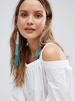 ASOS örhängen DESIGN Statement Ombre Bead Tassel Earrings