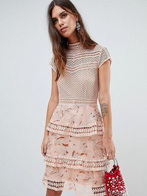 Y.a.s Dress With Tiered Lace Detailed Skirt