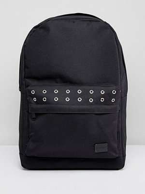 Spiral ryggsäck Black Eyelet Front Pocket Backpack