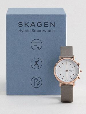 Klockor - Skagen Connected SKT1406 Hald Satin Hybrid Smart Watch In Grey 34mm