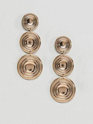 ASOS örhängen DESIGN Gold Coin Drop Earrings