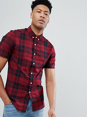 ASOS DESIGN Tall Stretch Slim Check Shirt - Ss bigtime
