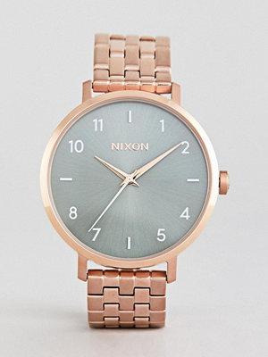 Klockor - Nixon A1090 Arrow Bracelet Watch In Rose Gold/Green - Rose gold