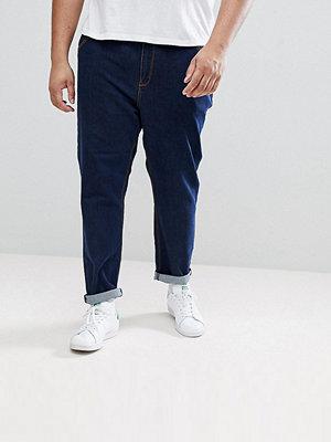ASOS PLUS Tapered Jeans In Indigo - Indigo