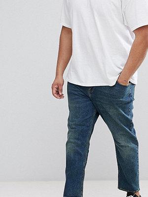 ASOS PLUS Tapered Jeans In Vintage Dark Wash - Dark wash vintage