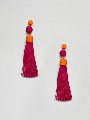 ASOS örhängen DESIGN Multicolour Tassel Earrings
