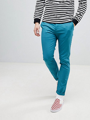 ASOS DESIGN Skinny Chinos In Teal - New blue