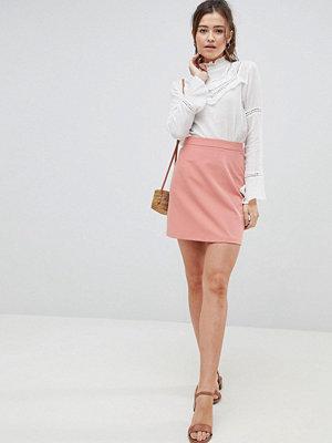 ASOS DESIGN tailored a-line mini skirt - Terracotta