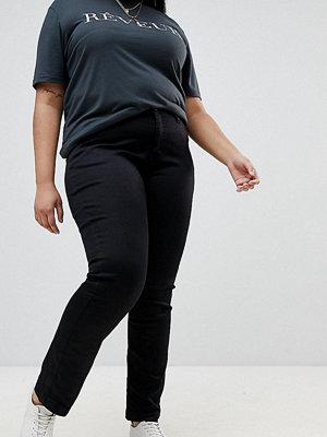 Zizzi Emily Jeans med smala ben och medelhög midja