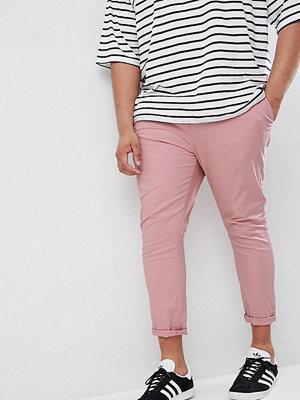 ASOS DESIGN Plus Super Skinny Crop Chinos In Pastel Pink - Blush