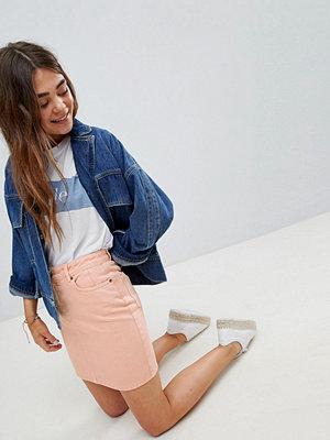 ASOS DESIGN denim original skirt in apricot - Apricot
