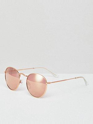 Monki Round Sunglasses - Rose gold