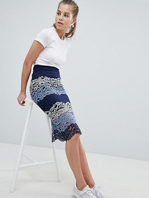 Oeuvre Lace Panel Midi Skirt