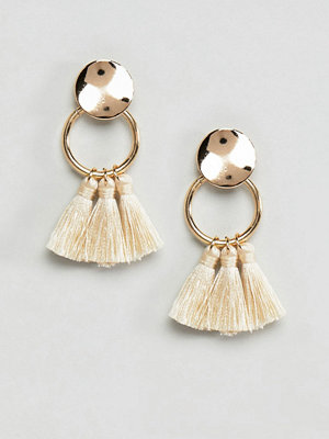 ASOS örhängen DESIGN Small Ring Tassel Earrings