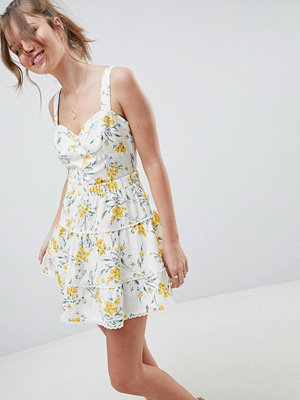 ASOS DESIGN tiered mini skirt co-ord in floral print