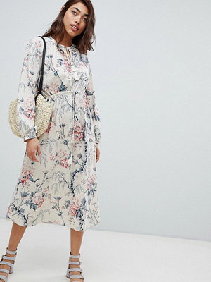 Warehouse Vintage Floral Print Midi Dress