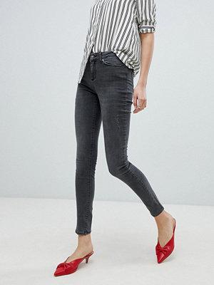 Vero Moda Tvättade skinny jeans Medium grey denim