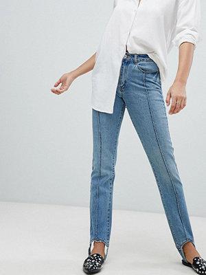 Vero Moda Stirrip Jeans med raka ben L32 Mellanblå denim