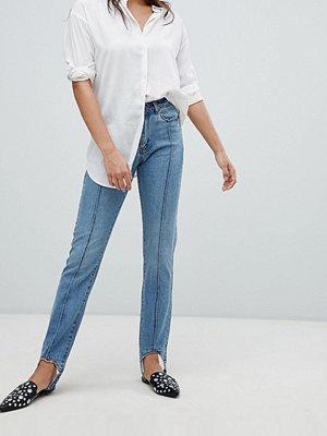 Vero Moda Stirrip Jeans med raka ben L34 Mellanblå denim