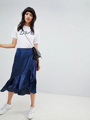 Vero Moda ruffle wrap skirt - Night sky
